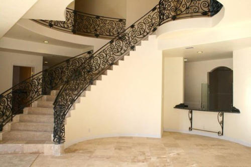 Stairway of 2 story custom built house by HT Constructions, Los Angeles, CA