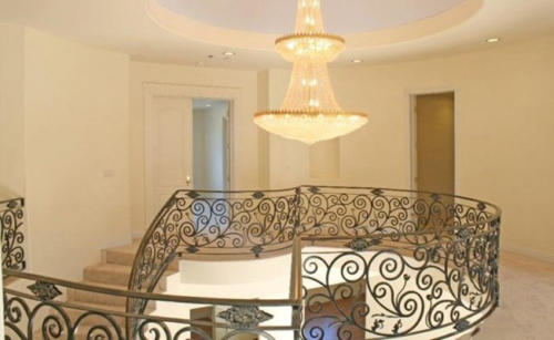 Upstairs chandelier by HT Constructions in Los Angeles, CA