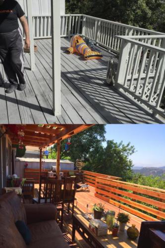 Outdoor patio deck repair and rebuild by HT Constructions in Encino, Los Angeles, CA